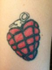 heart grenade tattoo