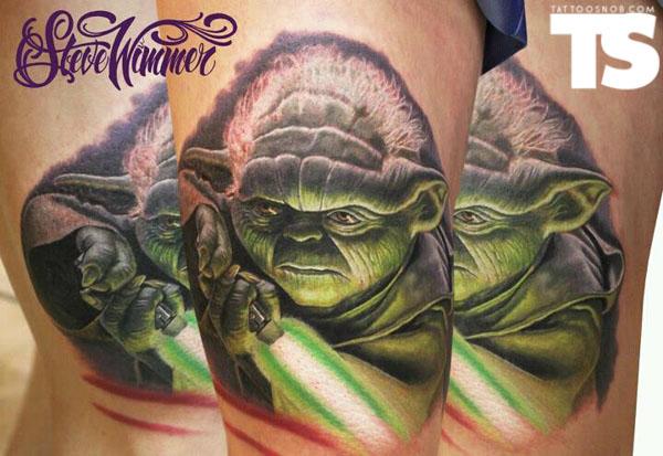 Yoda Character Design : Y yoda tattoo sydney aaliyah michelle